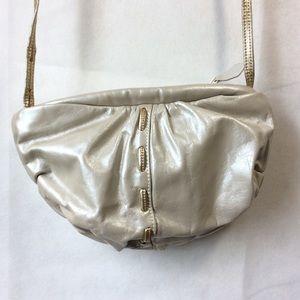 Vintage Bill Dorf Pearl Gold Crescent Shoulder Bag